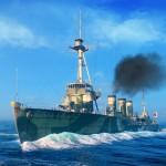 Красивый вид корабля в World of Warships