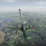 Подбитый самолёт War Thunder