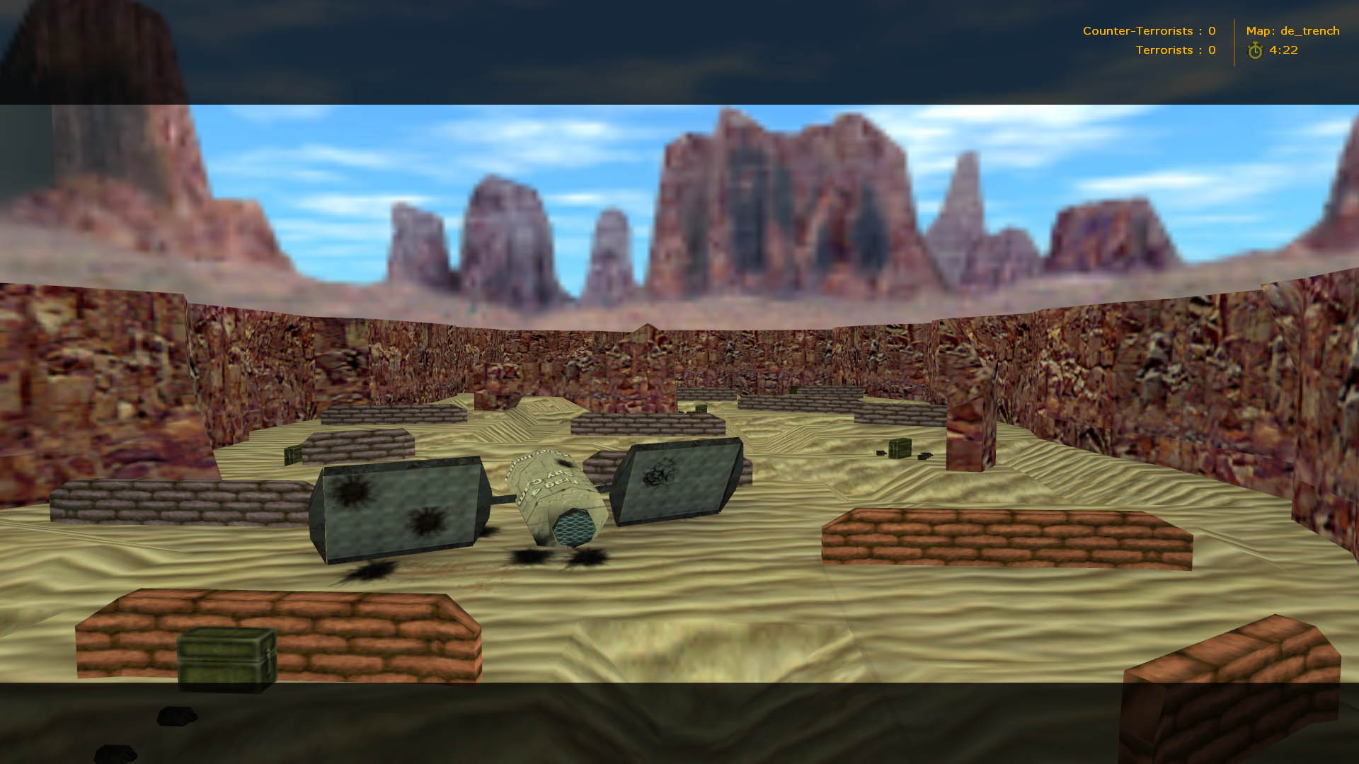 Карта de_trench для Counter-Strike 1.6
