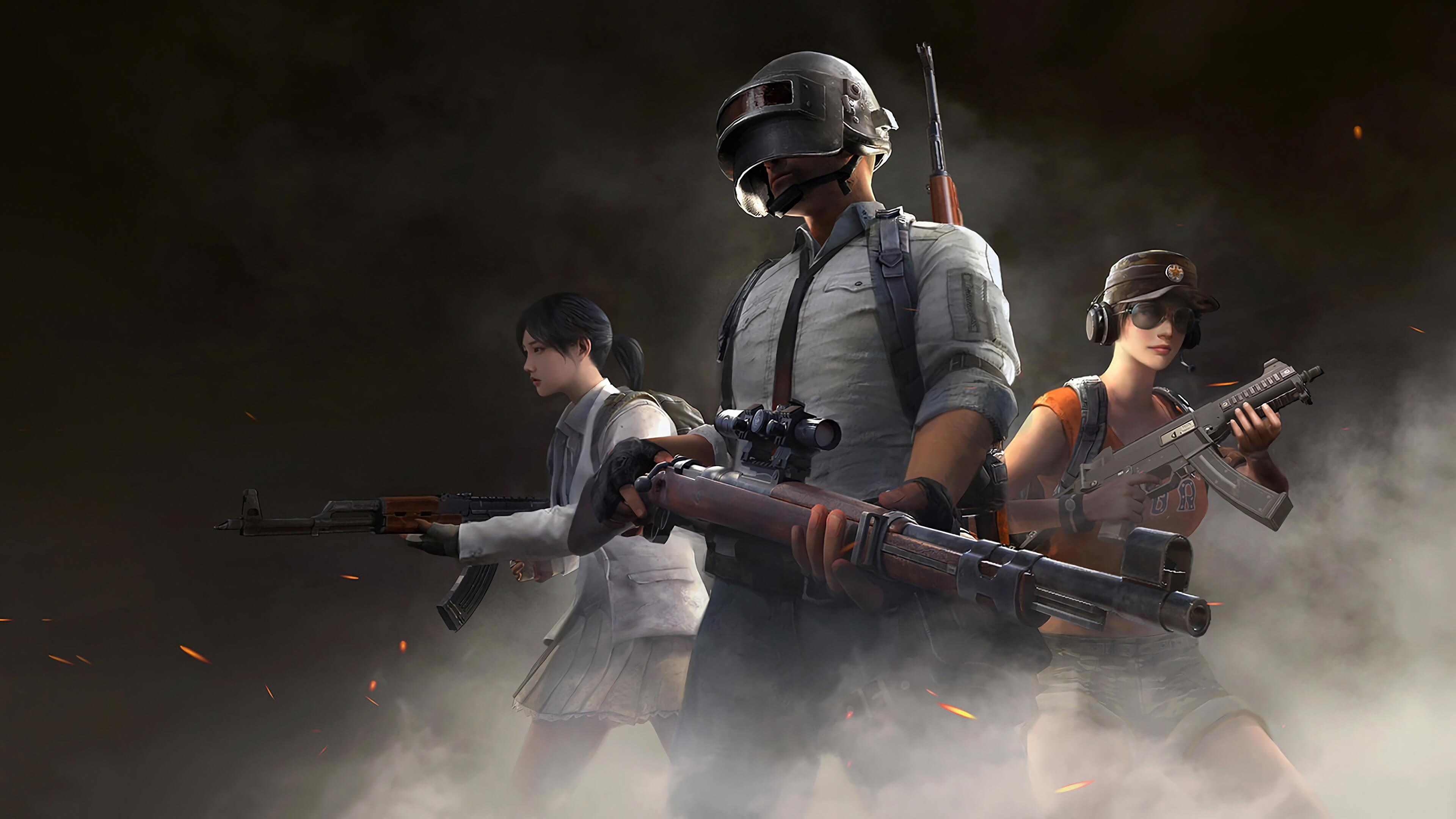 Обои PlayerUnknown's Battlegrounds три игрока