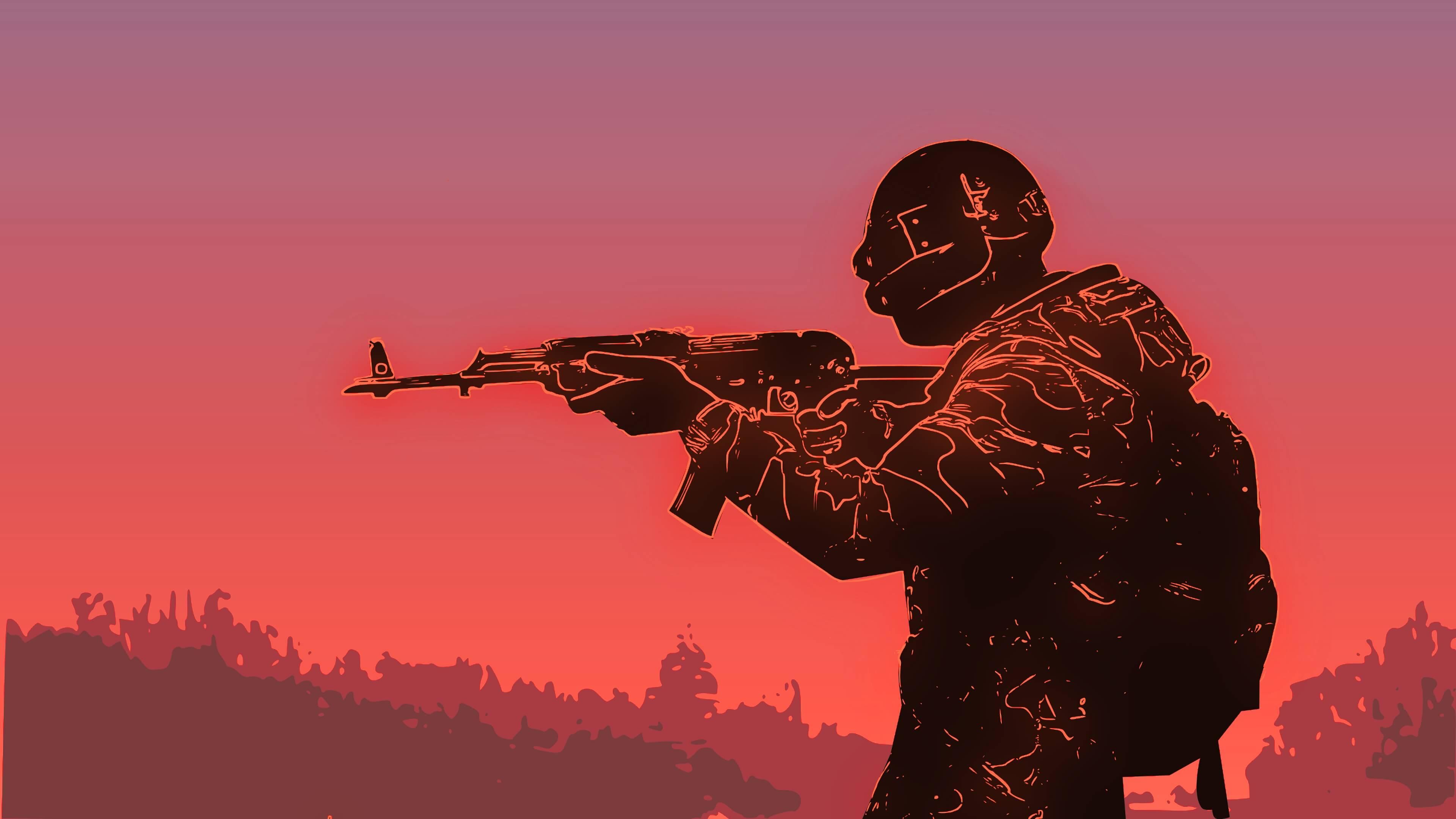 Обои PlayerUnknown's Battlegrounds ак-47