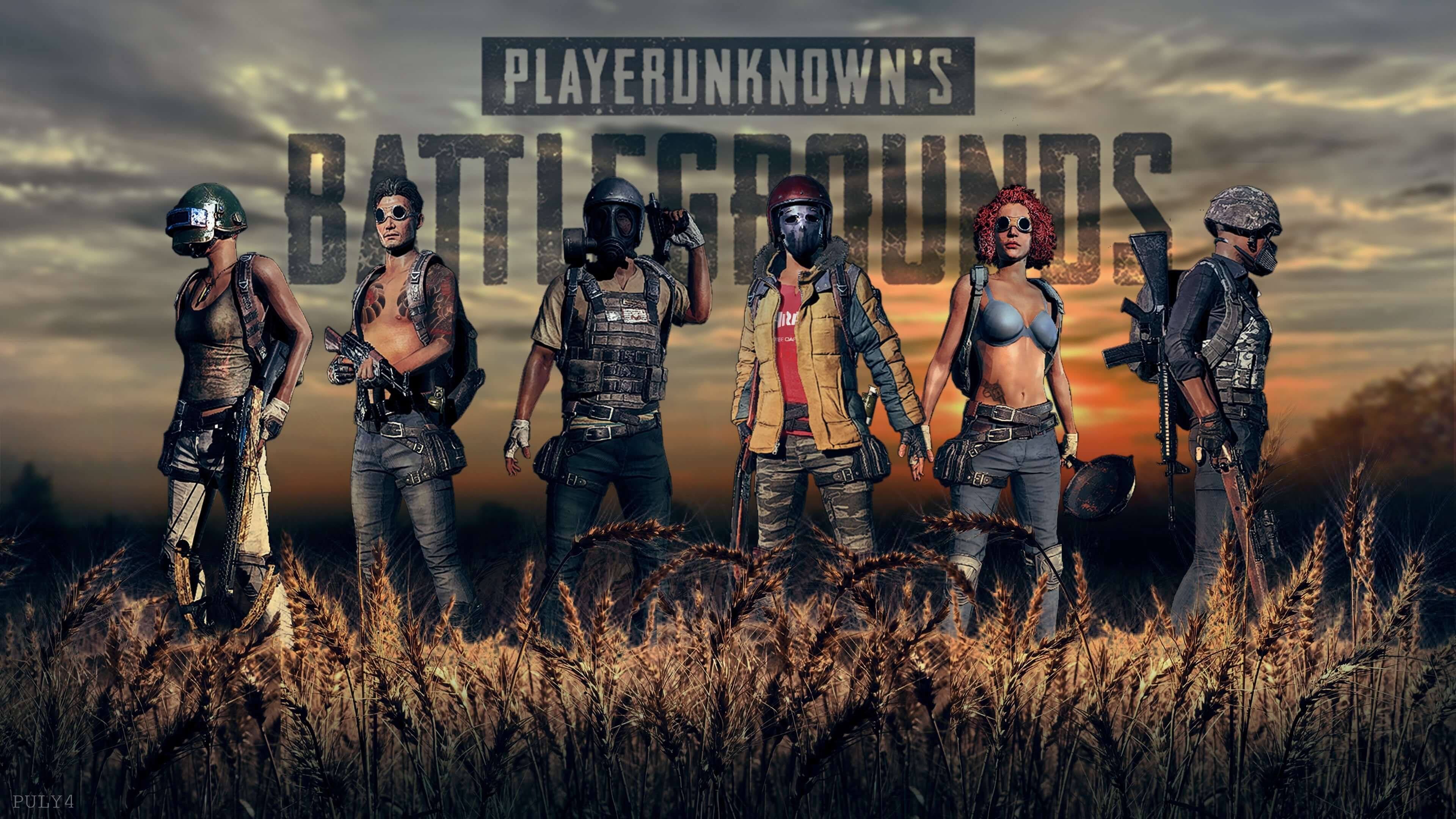Обои PlayerUnknown's Battlegrounds 6 игроков