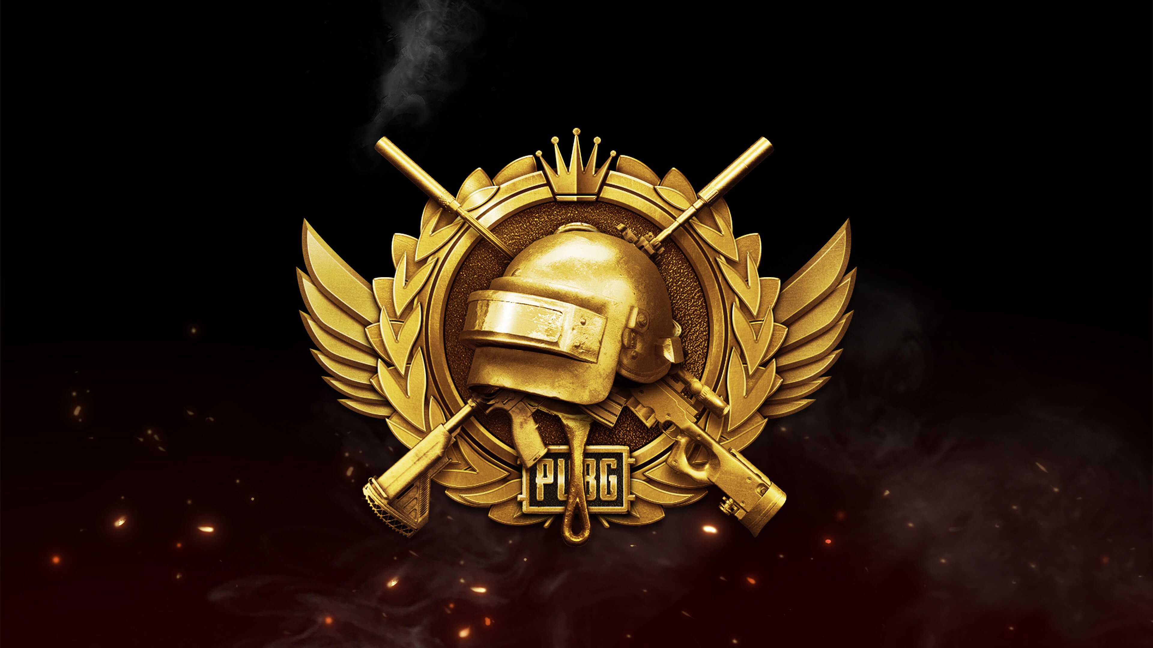 Золотой логотип PUBG