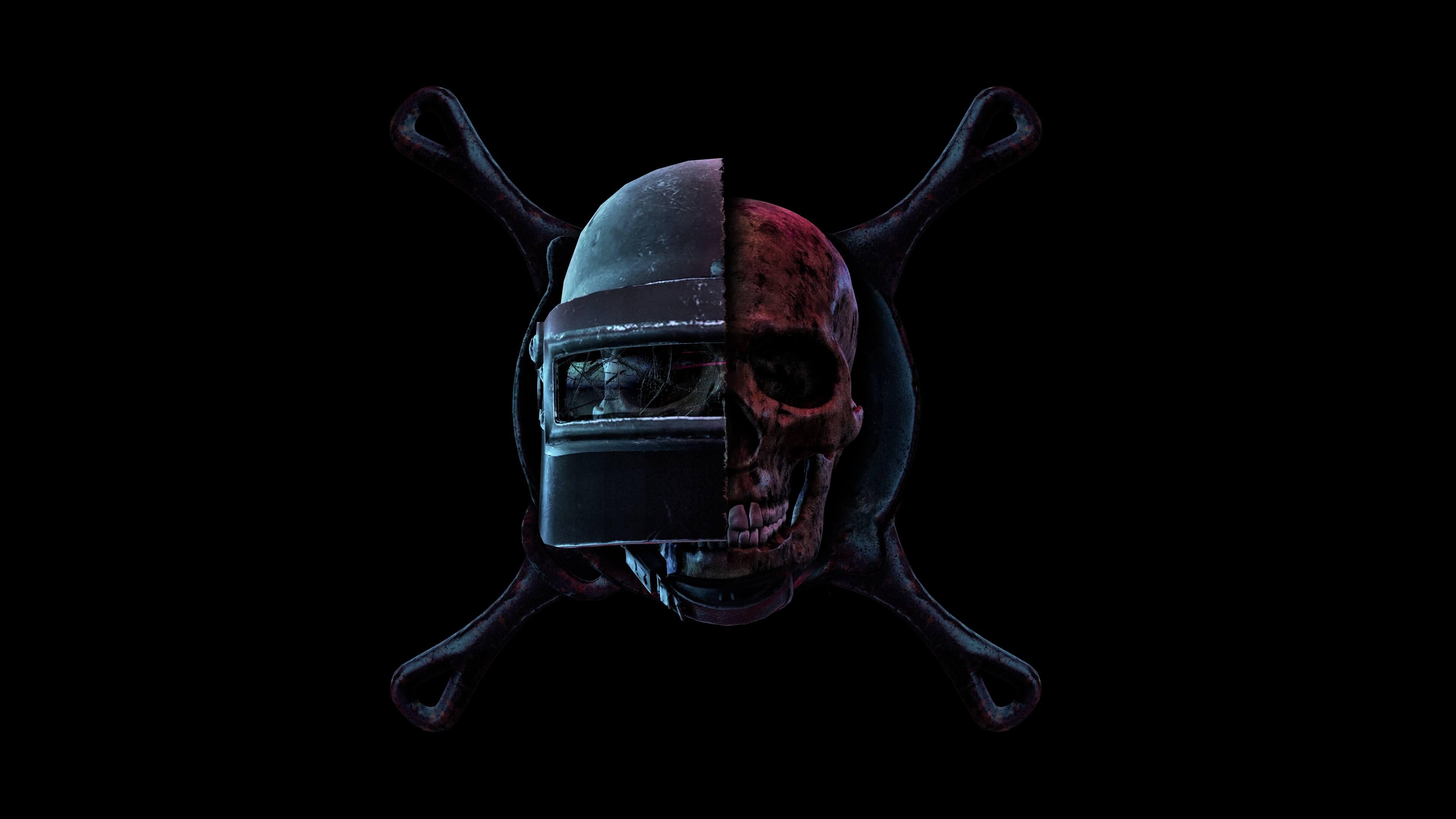 Логотип PUBG череп обои